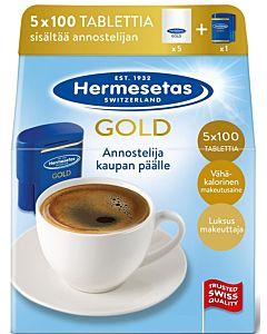 HERMESETAS GOLD MAKEUTUSAINE TABLETTI 5X100KPL