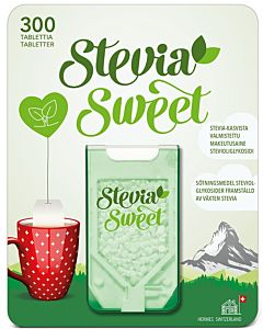 HERMESETAS STEVIASWEET  MAKEUTUSAINE 300TABLETTIA