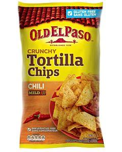 OLD EL PASO CRUNCHY TORTILLA CHIPS CHILI 185G