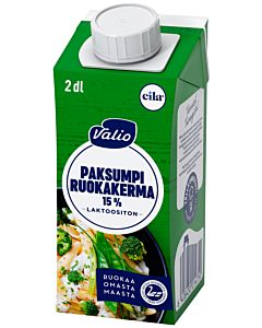 VALIO EILA PAKSUMPI  RUOKAKERMA 15% 2DL UHT LAKTOOSITON