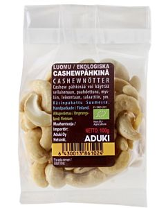 ADUKI CASHEWPÄHKINÄ LUOMU 100G