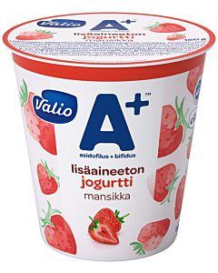 VALIO A+ LISÄAINEETON JOGURTTI 150G MANSIKKA LAKTOOSITON