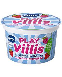 VALIO PLAY VIILIS 200G VADELMA-MANSIKKA LAKTOOSITON