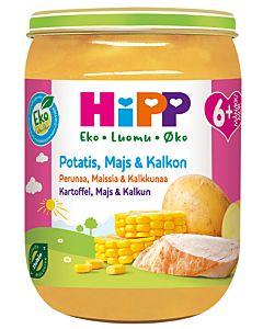 HIPP LUOMU PERUNAA,MAISSIA & KALKKUNAA 190G 6KK