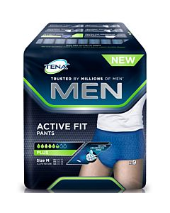 TENA MEN ACTIVE FIT PANTS INKOHOUSU M HOUSUMALLI 9KPL