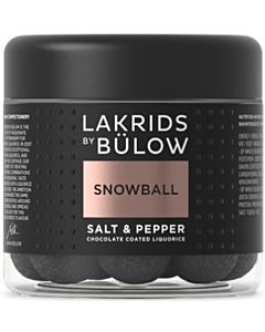 LAKRIDS BY BÜLOW SNOWBALL SALT & PEPPER 125G GLUTEENITON