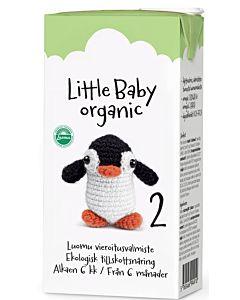 ARLA LITTLE BABY ORGANIC 2 LUOMU MAITOPOHJAINEN VIEROITUSVALMISTE UHT 500ML