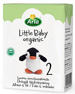 ARLA LITTLE BABY ORGANIC 2 LUOMU MAITOPOHJAINEN VIEROITUSVALMISTE UHT 200ML