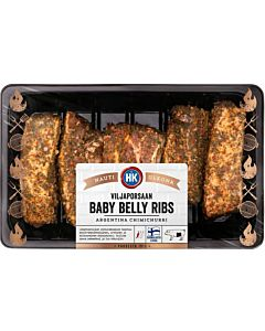 HK VILJAPORSAAN BABY BELLY RIBS ARGENTINA CHIMICHURRI NOIN 700-900G