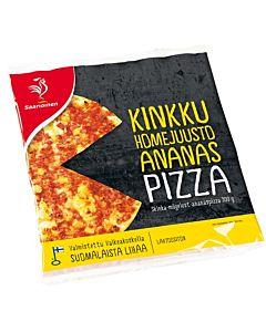 SAARIOINEN KINKKU-HOMEJUUSTO-ANANAS PIZZA 300G