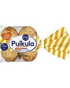 FAZER PUIKULA PEHMEÄMPI 100KAURA KAURALEIPÄ 4KPL/ 220G