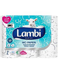 LAMBI WC-PAPERI KUVIOITU 6 RULLAA