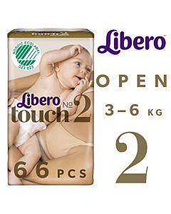 LIBERO TOUCH TEIPPIVAIPPA K0KO 2 (3-6KG) 66KPL