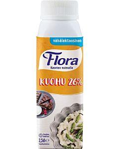 FLORA KUOHU 26% VÄHÄLAKTOOSINEN 2,5DL
