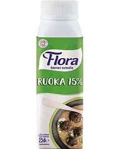 FLORA RUOKA 15% 2,5DL