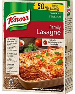 KNORR 363G FAMILY LASAGNE ATERIA-AINEKSET