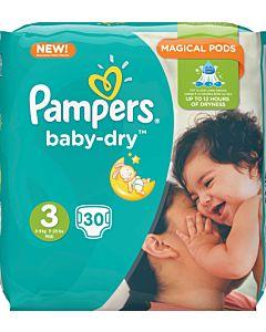 PAMPERS BABY DRY TEIPPIVAIPPA KOKO 3 5-9KG 30KPL