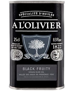 A L'OLIVIER OLIIVIÖLJY EVO BLACK FRUITY 250ML