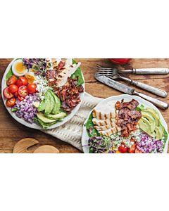 Resepti-Cobb-salaatti pekonidressingillä