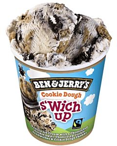 PAKASTE BEN & JERRYS COOKIE DOUGH S´WITCH UP 500ML