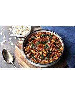 Resepti-Espanjalaistyylinen kikhernepata soijarouheesta