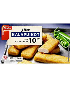 PAKASTE FINDUS FILEE KALAPUIKOT 250G