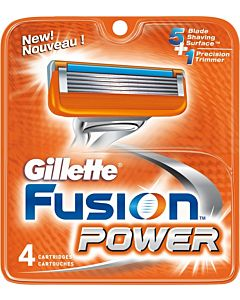 GILLETTE FUSION POWER TERÄ 4KPL