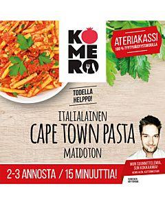 """KOMERO-PUSSI ITALIALAISTA PASTAA """"CAPE TOWN"""" PASTA 2:LLE 15MIN LAKTOOSITON"""