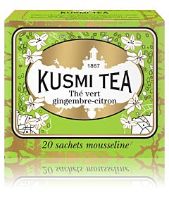 KUSMI TEA GREEN GINGERLEMON VIHREÄ PUSSITEE 44G