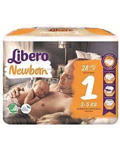 LIBERO NEWBORN TEIPPIVAIPPA KOKO 1 (2-4 KG) 28KPL
