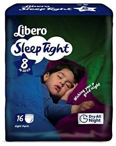 LIBERO SLEEPTIGHT YÖKASTELUVAIPPA KOKO 8 16-30KG 16KPL