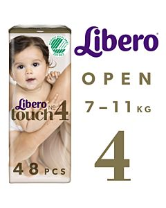 LIBERO TOUCH TEIPPIVAIPPA KOKO 4 (7-11KG) 48KPL