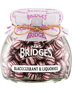 MRS BRIDGES MAKEINEN MUSTAHERUKKA-LAKRITSI 155G