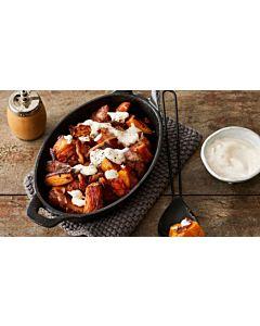Resepti-Paahdettuja bataatteja ja pekonia