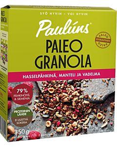 PAULUNS 350G  HASSELPÄHKINÄ PALEO GRANOLA