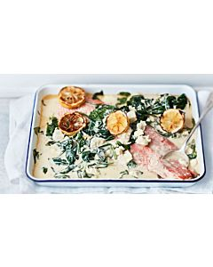 Resepti-Pinaatti-sitruunauunilohi