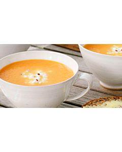 Resepti-Porkkanasosekeitto ja inkivääriraejuustoa