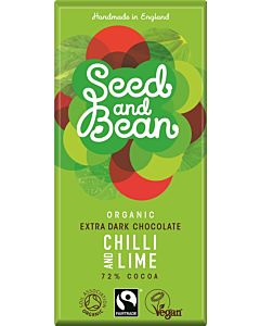 SEED AND BEAN REILUN KAUPAN LUOMU SUKLAALEVY 72% CHILI & LIME 85G
