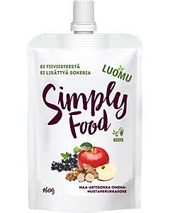 SIMPLY FOOD LUOMU MUSTAHERUKKASMOOTHIE 160G