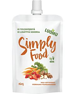 SIMPLY FOOD LUOMU MANSIKKASMOOTHIE 160G
