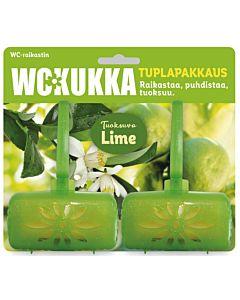 WC-KUKKA LIME WC-RAIKASTIN TUPLAPAKKAUS 2X50G