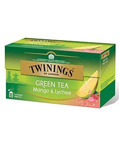 TWININGS 25PS/45G GREEN TEA MANGO LYCHEE