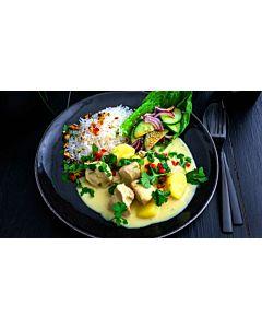 Resepti-Thaimaalainen curry-kana