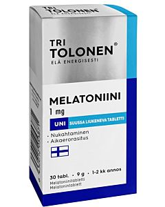 TRI TOLOSEN MELATONIINI 1MG 30KPL