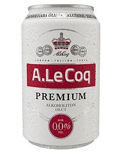 A.LE COQ PREMIUM 0,33L TÖLKKI 0,0% ALKOHOLITON OLUT