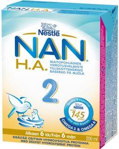 NAN H.A. 2, 200ML VIEROITUSVALMISTE