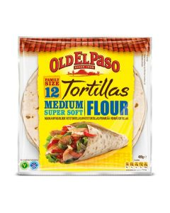 OLD EL PASO 12/489G VEHNÄTORTILLA MEDIUM PERHEPAKETTI