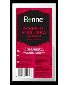 BONNE 1L KARPALO-PUOLUKKA TÄYSMEHU 100%