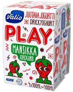 VALIO PLAY JUOTAVA JOGURTTI 4x100ML MANSIKKA HYLA