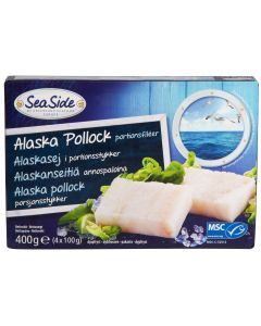 PAKASTE SEASIDE ALASKANSEITIFILE 4X100G